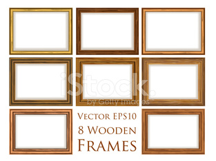 Wooden frame set.