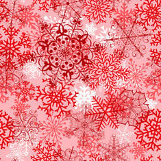 Christmas seamless pattern with red snowflakes