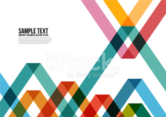 Abstract Colorful Triangle Pattern.