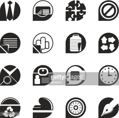 Silhouette Simple Business and Office Icons