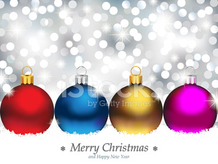 Sparkling Background with Christmas Ornaments