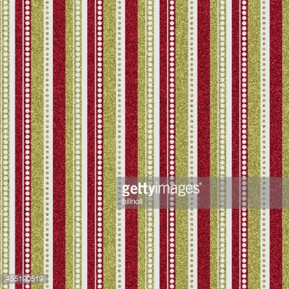 Seamless red and gold glitter pattern on white paper