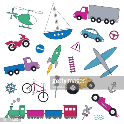 transportation vehicles collection