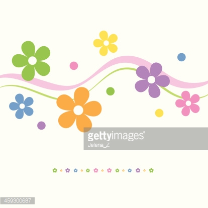 flowery greeting card
