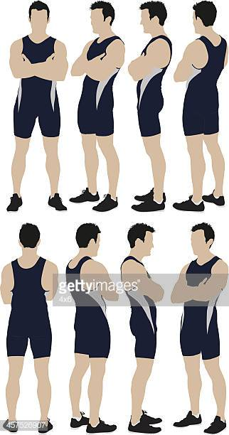 Man in track and field clothes