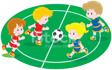Ninos Jugando Al Futbol Stock Photos Vectorhq Com
