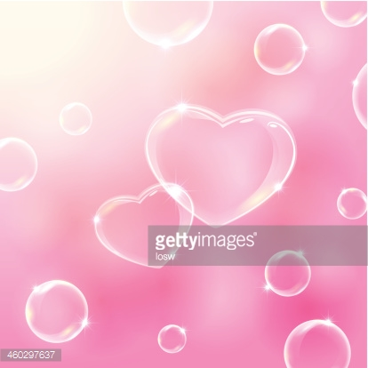 Two bubble hearts