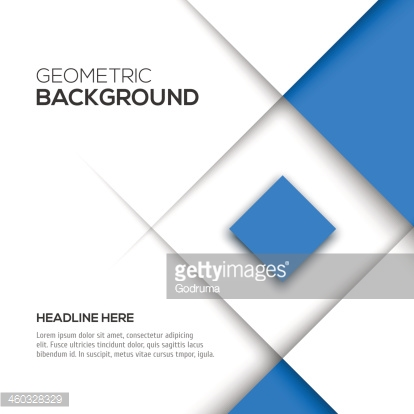 Geometric 3d blue square background with text space