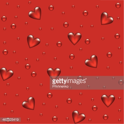 red background with transparent hearted