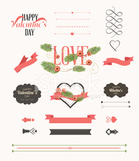 Valentine's Day Labels - Illustration