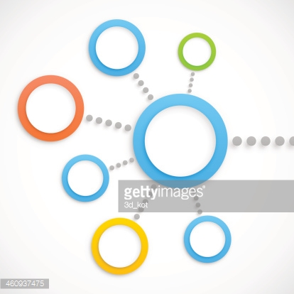 Abstract network with circles