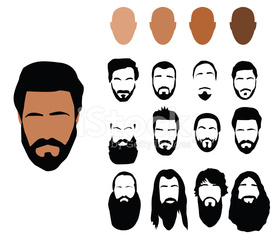 Beard styles, vector