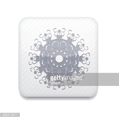 Vector white Snowflake icon. Eps10. Easy to edit