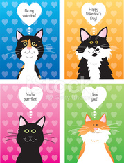 Cats Valentine Cards