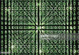 Binary code in abstract background