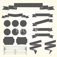 Vector set of design elements - Illustration