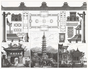 Engraving: Traditional Chinese Architecture