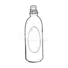 cartoon traditional bottle