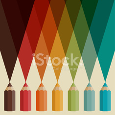 Creative background with colored pencils.