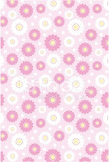 Daisy Floral with Polka Dot Pattern