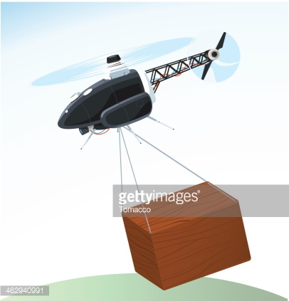 Drone Delivering Box Air Shipping
