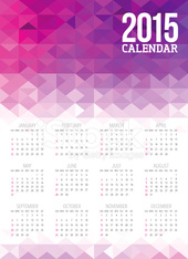 Colorful Abstract 2015 Calendar Template