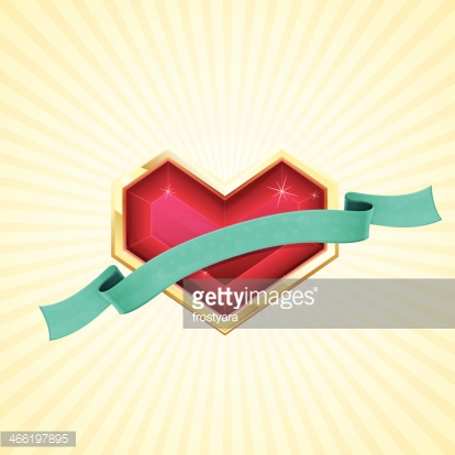 Golden Heart and Ribbon
