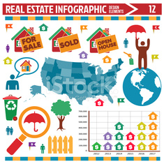 real estate infographic design elements