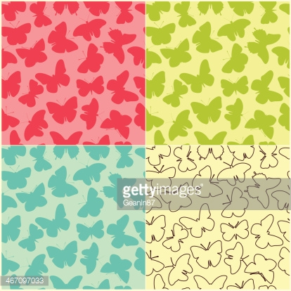 Collection of seamless butterfly patterns