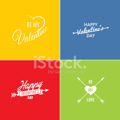 Valentine's Day vector poster