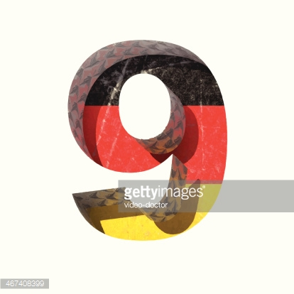 Vector Germany cutted figure 9