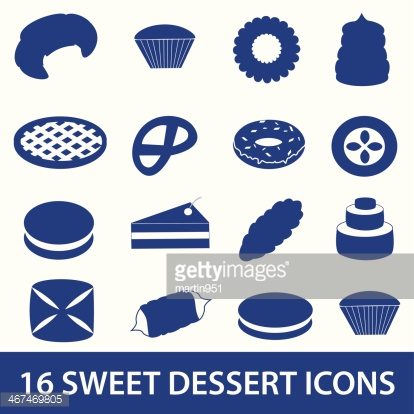 sweet desserts icons collection eps10