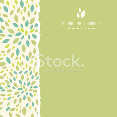 Leaf texture square torn frame seamless pattern background