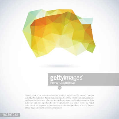 Vector geometric colorful background