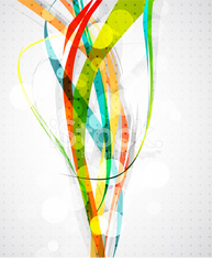 Abstract color lines. Vector background