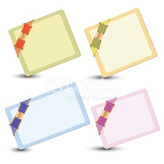 set of cards with ribbons