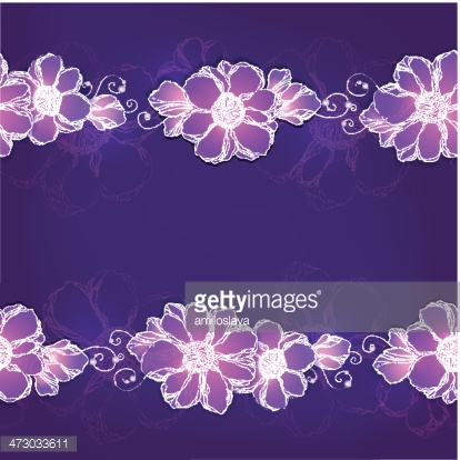 Decorative frame with flowers.