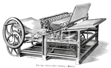 Hoe's Railway Machine - Printing Press