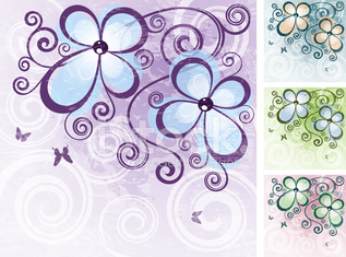 Abstract floral vector illustration.
