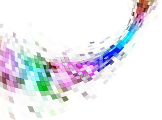 Abstract mosaic background, banner