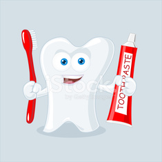 Tooth Macot Vector Illustration