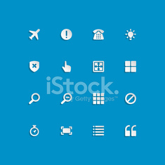 Web site vector icons set bend paper effect