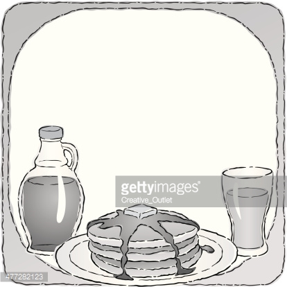 Pancakes Syrup Mortice