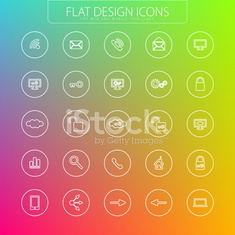 Flat design - icons pack