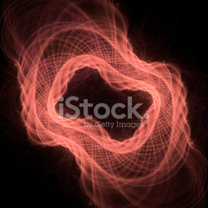 Abstract light fractal background