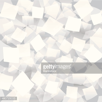 White abstract background with geometrical objects