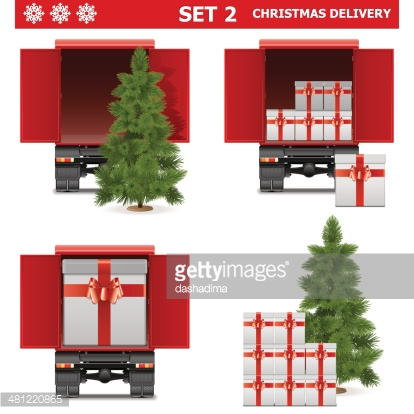Vector Christmas Delivery Set 2