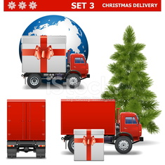 Vector Christmas Delivery Set 3