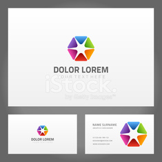 Abstract creative icon and business card