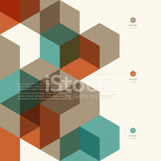 Cubes geometric background